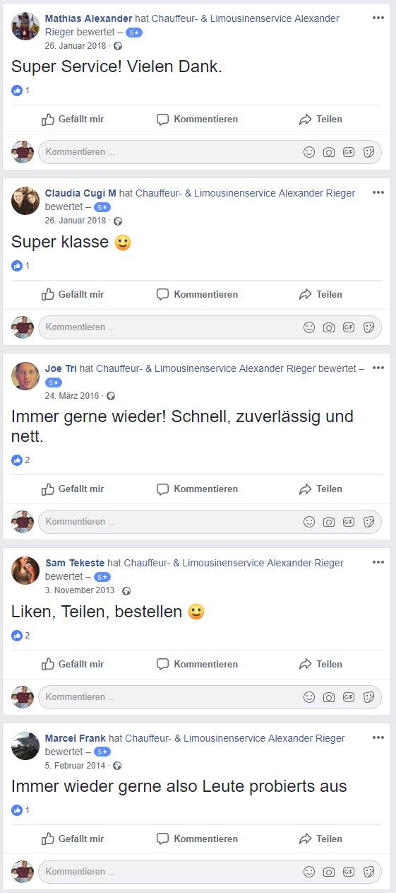 Bewertungen Chauffeur Rieger Frankfurt